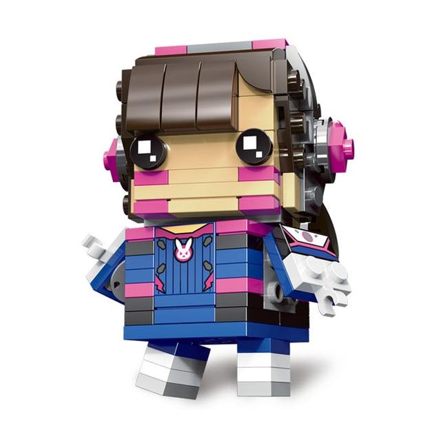 Decool Mini Overwatching Figures Super Heroes model Brickheadz Building Blocks Bricks Toys for children gifts Juguetes 1