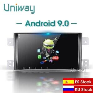 Image 1 - Uniway WT332 android 9.0 car dvd gps DSP for suzuki grand 2006 2011 vitara multimedia car radio stereo gps with steering wheel