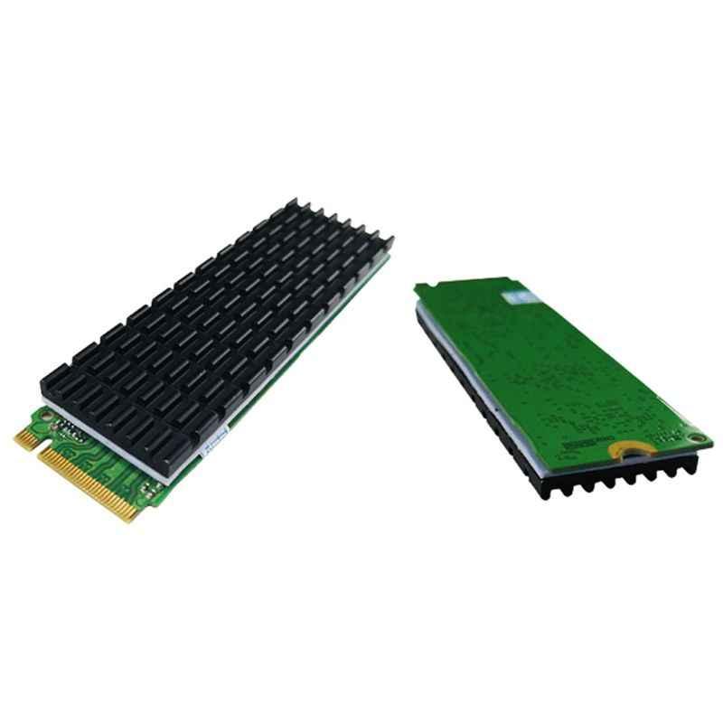 Hitam Heatsink Disipasi Panas Radiator M.2 NGFF Pendingin Heat Sink Panas Termal Pad untuk M.2 Ngff 2280 PCI-E NVMe SSD x6HA
