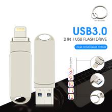 Pamięć usb dla iphone 8 7 7 plus 6 6 s Plus 5 5S 5C ipad 8gb 16gb 32gb pen drive 64gb 128GB otg usb 2 0 pendrive tanie tanio superduoduo Usb 3 0