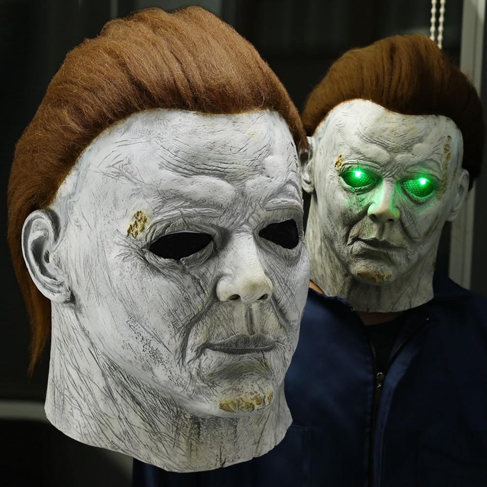 Halloween 2020 Michael Mysrs Face Horror Michael Myers LED Halloween Kills Mask Cosplay Scary Killer