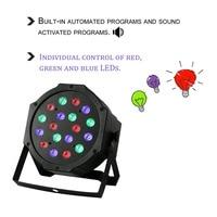 18 w 18led profissional rgb cores de mistura luz palco 6 canais festa casamento em casa dj clube luz equipamentos com ventilador|  -