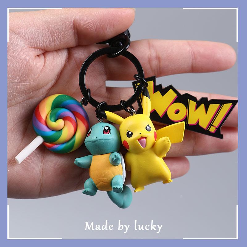 Pokémon Дженни черепаха школьный портфель кулон милый креативный кукла маленький подарок мужской Пикачу брелок Женская бижутерия