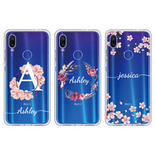 Custom Personalized Initial Name Flower Wreath Phone Case For