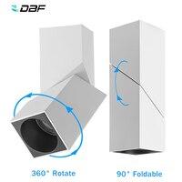 [DBF]360 giratorio 90 superficie plegable montada techo Downlight 10W 12W 15W LED lámpara de techo para cocina Decoración Para sala de estar