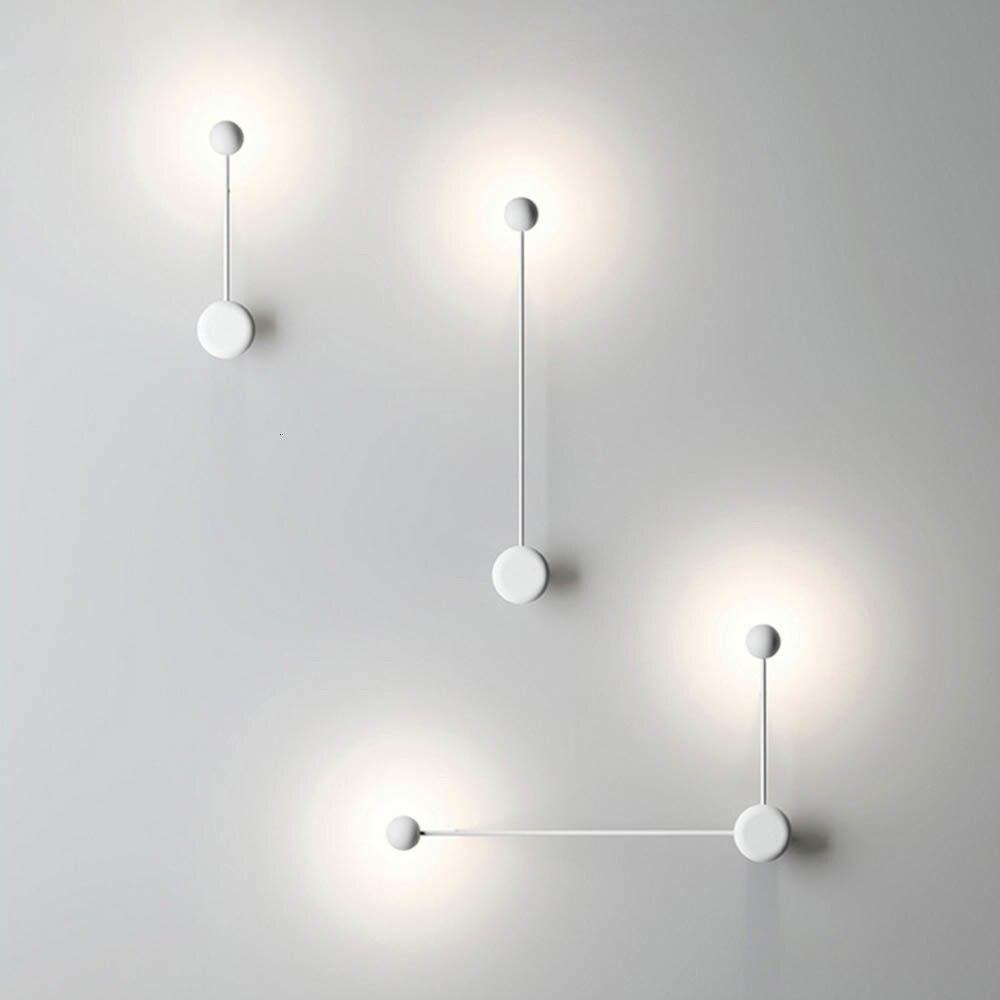 2018 New Modern Nordic Pipe Line LED Wall Lamp Bedside Night Light Bedroom Living Room Sconce Light Fixture Wall Decor Art Black