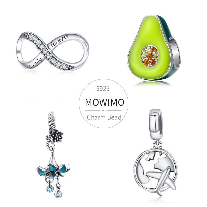MOWIMO Infinity Love Charms 100% 925 Sterling Silver Animal World Bead Pendant Fit Original Pandora Bracelet Necklace Jewelry(China)