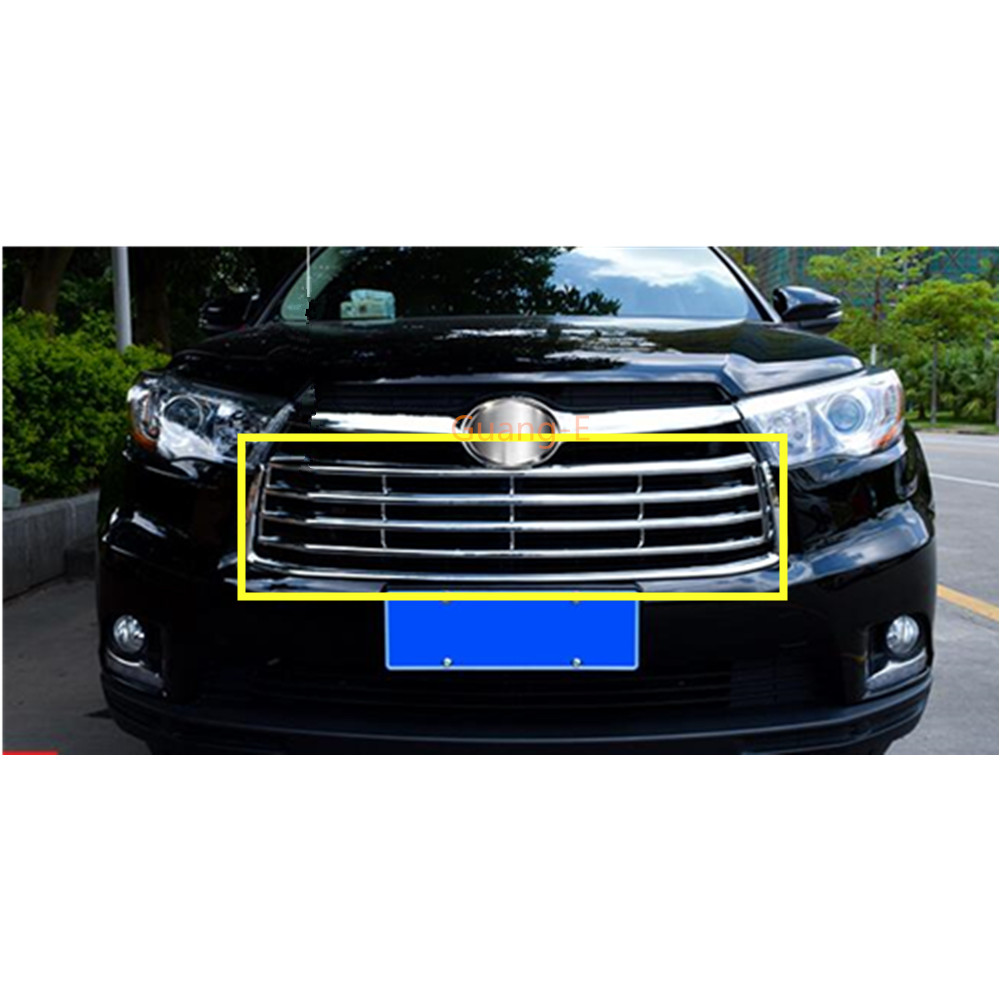 Chrome Front Grille Molding Cover Trim for 2015-2017 Land Rover Discovery Sport