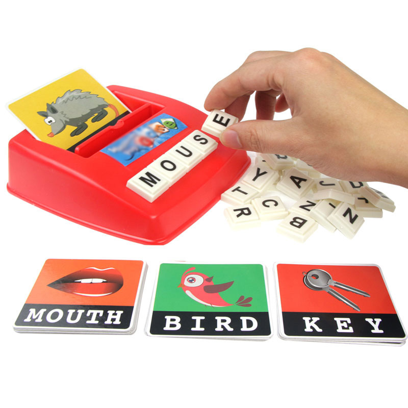 1209 Children'S Educational Tabletop Game Learning English Word with Pictures Reading Platter English Lettered Card Machine 0.3|  - title=