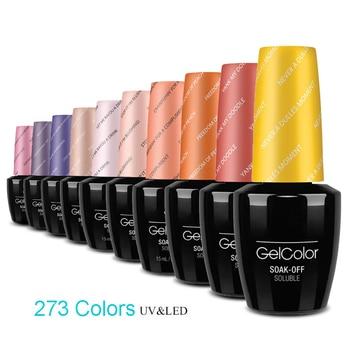 Uñas de Gel polaco Esmeralda Nude Color de uñas de arte Semi esmalte de uñas Gel permanente manicura Uv/LED 15ml Gelpolish DEFG serie