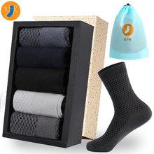 10 paren/partij Bamboevezel Sokken Mannen Casual Business Anti Bacteriële Deodorant Breatheable Man Korte Lange Sok EUR39 45 Compressie