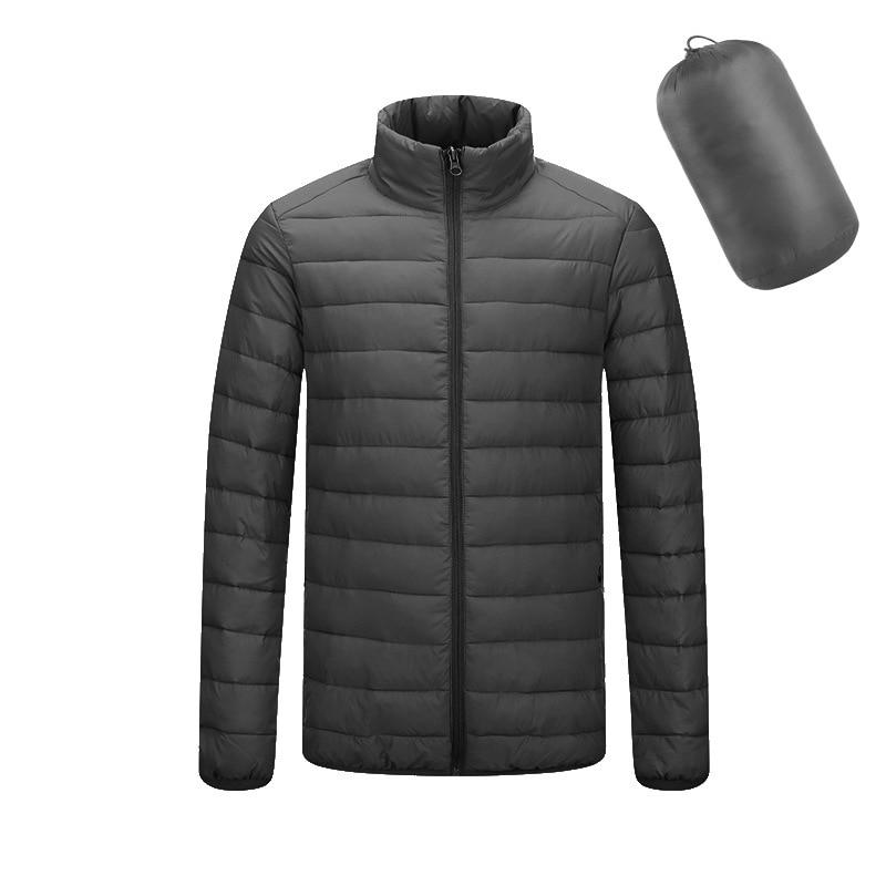 Мужская повседневная куртка с длинным рукавом, деловая теплая куртка с воротником-стойкой из хлопка, на молнии, для зимы, 2019