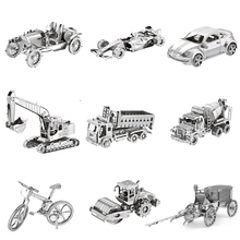 Toy Car Jigsaw Puzzle 3D Metal  Model Assembled Kit Child Adult Suitable for Collection Education