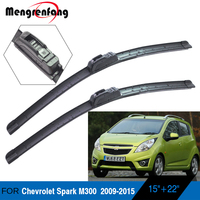 For Chevrolet Spark M300 Car Front Windscreen Wiper Blades Soft Rubber Wiper J Hook Arms 2009 2010 2011 2012 2013 2014 2015|Windscreen Wipers|   -