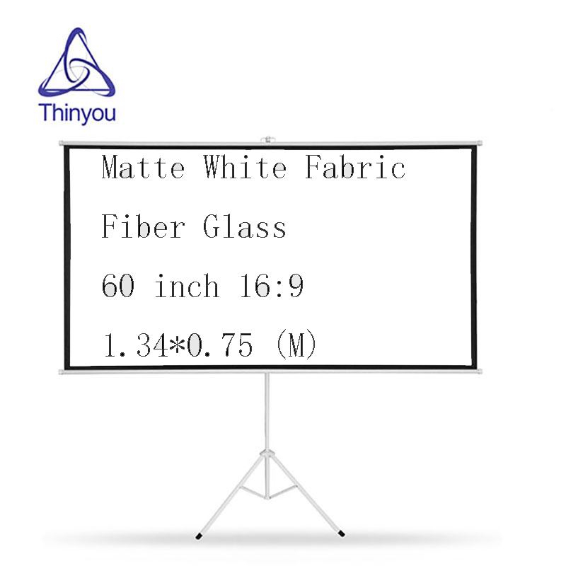 """60"""" Portable Projector Screen Matte HD 16:9 White 60 Inch Diagonal Projection"""