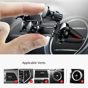 Image 5 - Yerçekimi braketi deforme araba telefon tutucu evrensel araba yerçekimi tutucu cep telefon standı iPhone Xr Xs Max Xiaomi Huawei