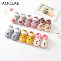 Chaussettes bébé avec semelles en caoutchouc motif Animal chaussette de pied infantile pour nouveau-né printemps enfant chaussettes de sol chaussures anti-dérapant semelle souple Sox