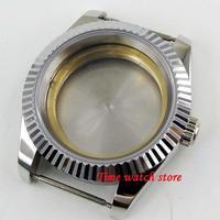 40mm sapphire glass date magnifier 316L stainless steel Watch Case fit ETA GMT MINGZHU MIYOTA movement C155