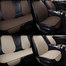 Car Seat Cover Protector Auto Flax Front Back Rear Backrest Seat Cushion Pad Auto Automotive Interior Car accessories Suv or Van