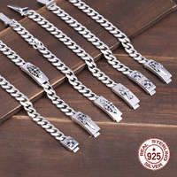 925 sterling silver bracelet couple simple design retro fashion personality cross dagger styling jewelry to send lover's gift