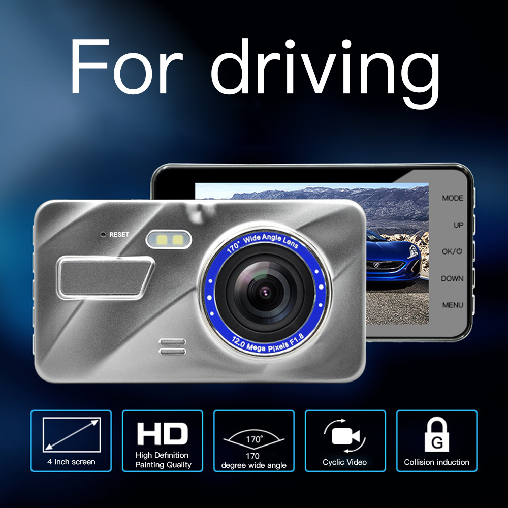 Car DVR Video-Recorder Rear-View-Camera Dual-Lens Wide-Angle 170-Degree 1080P Tachograph