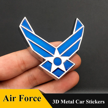 3D Metal US Air Force Car sticker Emblem Grill Badge Car Styling for AUDI BMW TOYOTA Suzuki Chevrolet HONDA VOLVO FORD Cadillac image