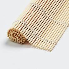 24*24cm diy bambu sushi esteira de cozinha onigiri arroz rolo japonês sushi fabricante ferramentas comida japonesa acessórios cozinha tslm1