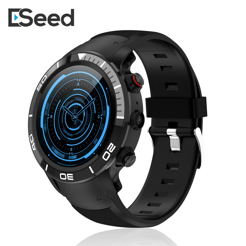 ESEED H8 4G GPS WIFI Smartwatch men IP68 waterproof 5MP Camera 16GB/ROM support Nano SIM Heart Rate Monitor for android ios