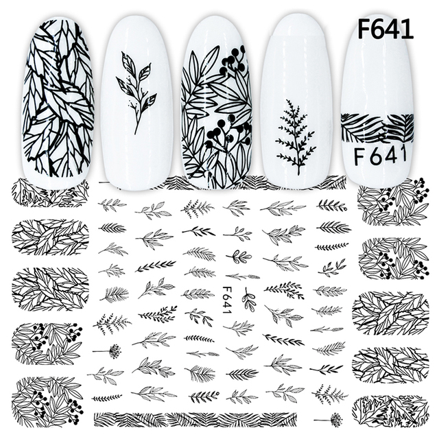 3D Nail Sticker Cool English Letter Nail Art Decorations Foil Love Heart Design Nails Accessories Fashion Manicure Stickers 5