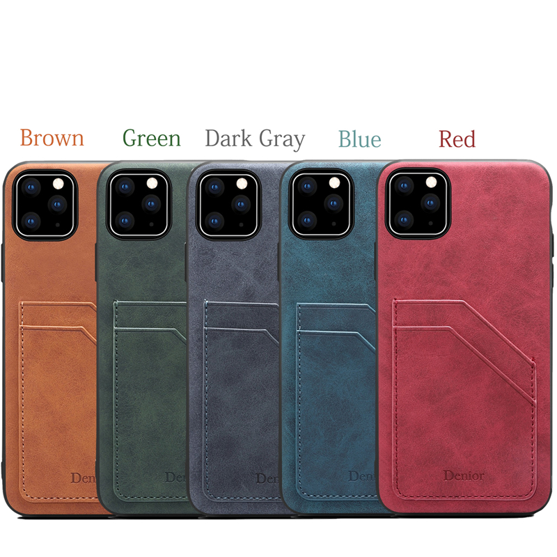 Double Card Leather Case for iPhone 11/11 Pro/11 Pro Max 5