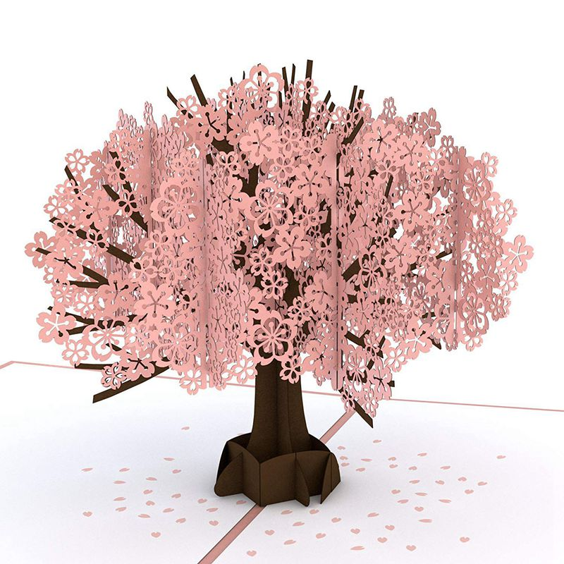Cherry Blossom Pop Up Card, 3D Card, Birthday Card, Springtime Card, Summertime Card, Birthday Card