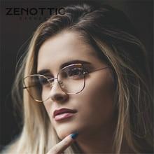 ZENOTTIC Cat Eye lunettes cadre pour femmes Simple métal Prescription lunettes cadre clair résine lentille myopie optique lunetterie 2020