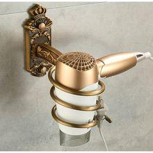 Держатель для фена ногтей антикварная металлическая полка ванной