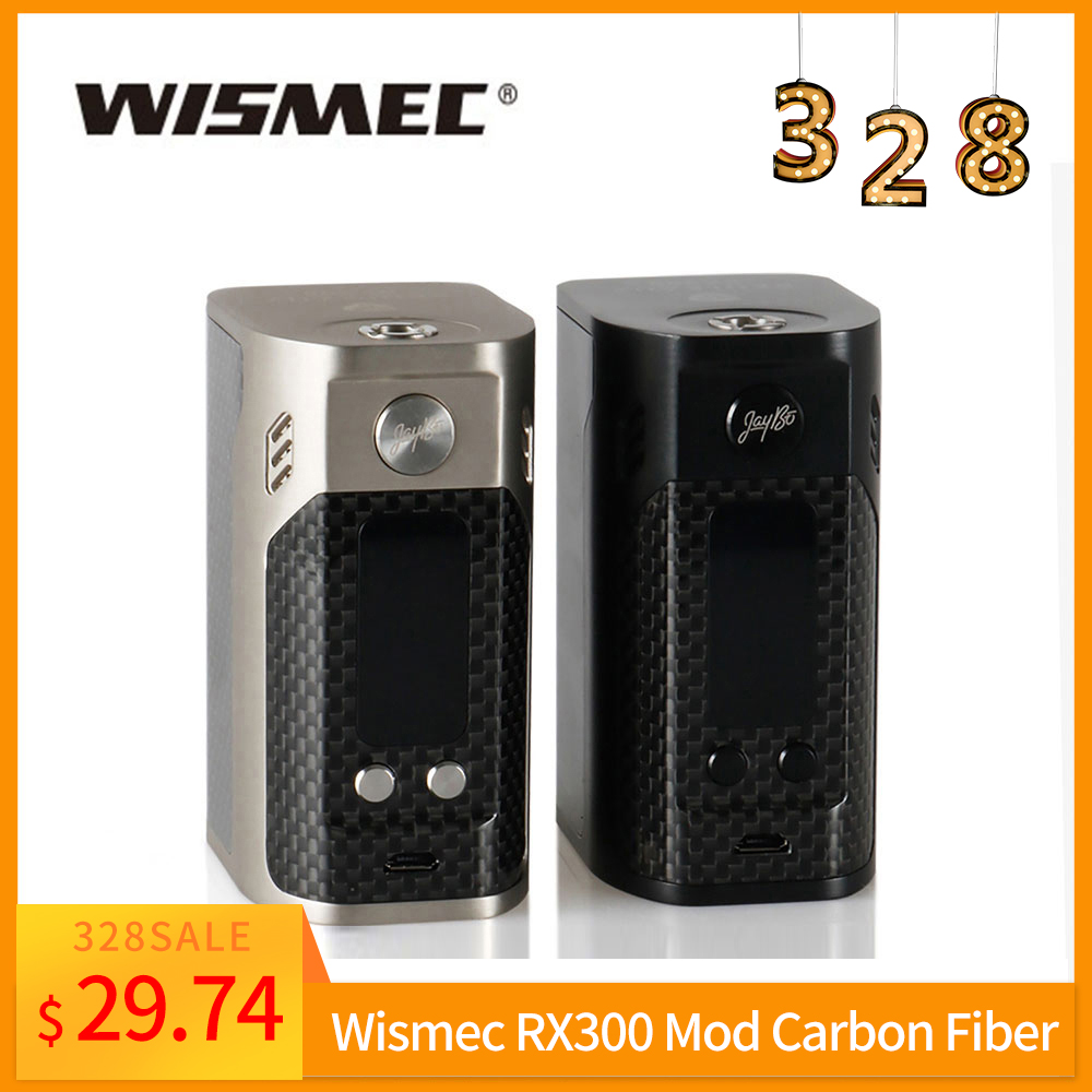 Big Sale Original Wismec Reuleaux RX300 TC Box Mod Carbon Fiber Rx 300w Large OLED Screen Box Vape 0.96-inch 510 Thread E-Cig