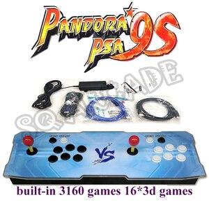 Pandora 9S аркадная консоль 3160 в 1 6 кнопок и наклеек на заказ Ретро печатная плата с 16 * 3d играми HDMI VGA запись высокий балл