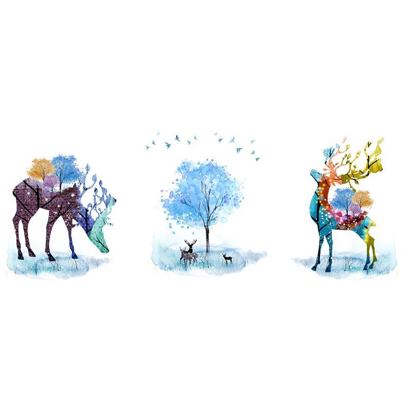 Watercolor Deer 5D Special Shaped Diamond Painting Embroidery Needlework Rhinestone Crystal Cross Craft Stitch Kit DIY