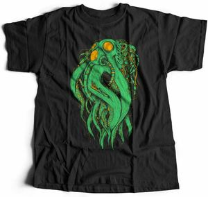 Octopus Robot Navy T-Shirt Cyborg Marine Dark Ocean Deep Sea Death Mask D062(China)