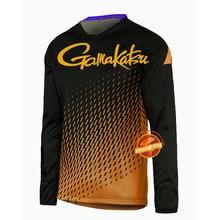 Летняя Новинка, одежда для рыбалки Gamakatsu, быстросохнущая одежда для рыбалки с длинным рукавом, Солнцезащитная рыболовная рубашка с защитой от ультрафиолетового излучения