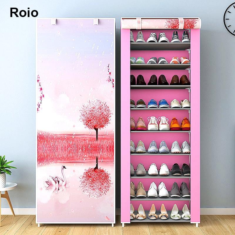 Многослойный обувной шкаф простой пылезащитный домашний обеспечивает экономию места в помещении в сборе нетканое полотно с задней застежк...