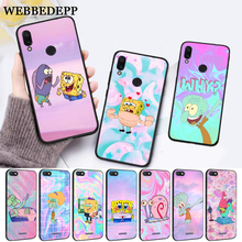 WEBBEDEPP SpongeBob art Silicone Case for Xiaomi Redmi Note 4X 5 6 7 Pro 5A  Prime все цены