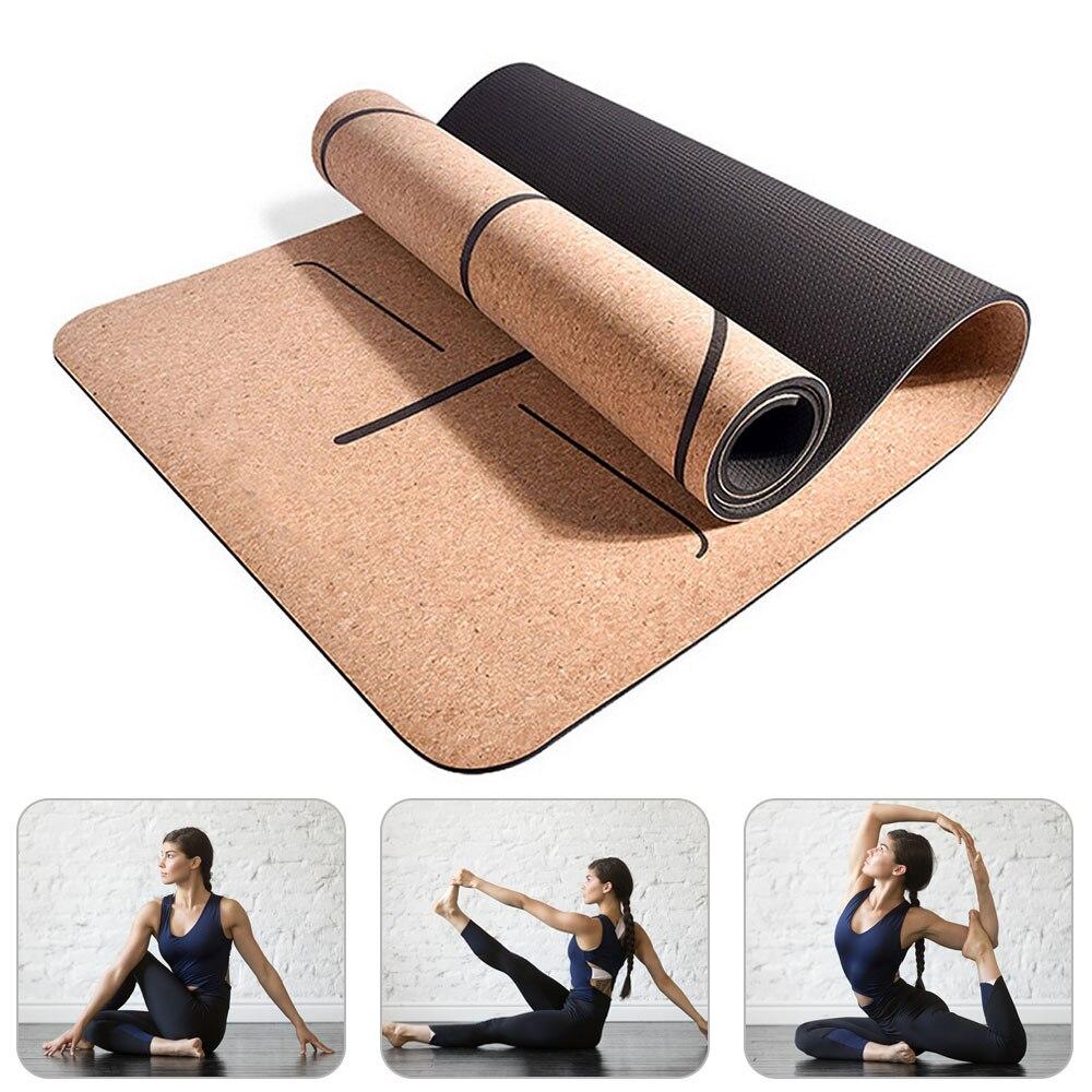 Tapis de Yoga en liège antidérapant 6MM liège naturel Fitness gymnastique tapis de sport Pilates exercice entraînement coussins de danse tapis de Massage