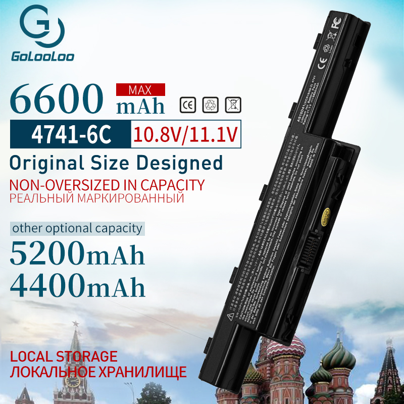 Golooloo 6 Cells Laptop Battery For Acer Aspire AS10D31 AS10D51 AS10D61 AS10D71 AS10D75 AS10D81 V3 5741 5560 V3-771g 5560G