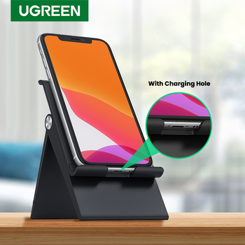 UGREEN-Soporte de escritorio para teléfono móvil iPhone 11 Pro Max SE 8 7, ajustable, plegable