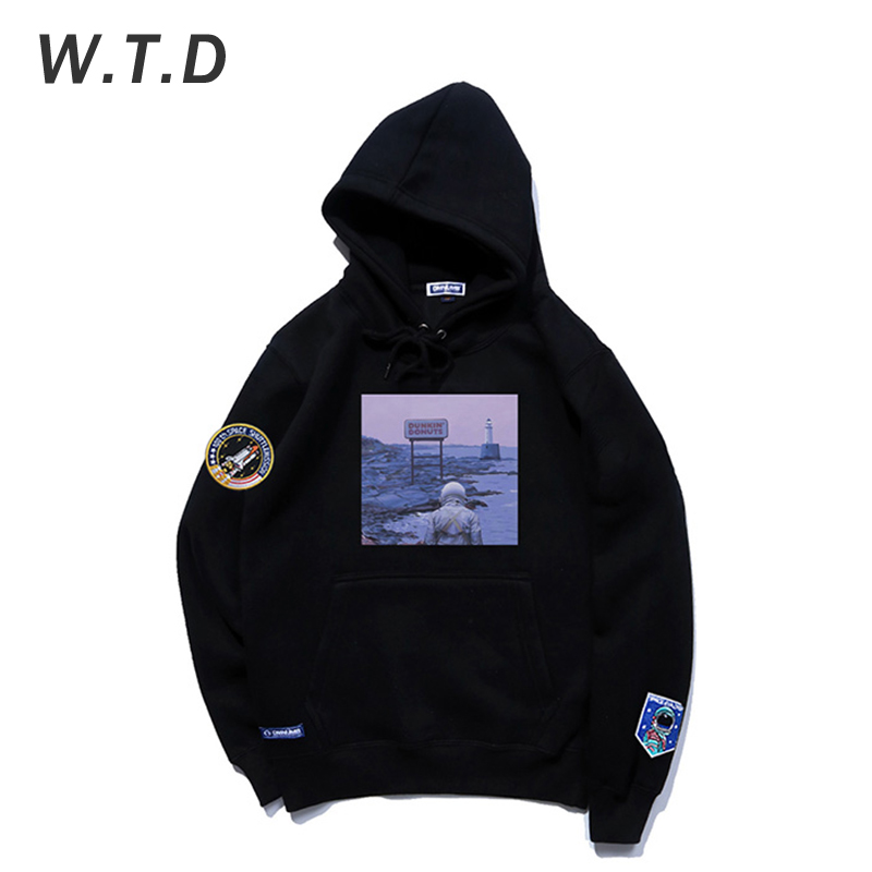 WTD Men's Sweatshirt Streetwear Fashion Patterns Printed Pullover Casual Style Men/Women Hoodie Oversized Sweatshirt Men Hoodies