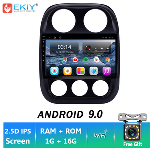 EKIY IPS Android 9.0 Car Radio GPS Navigation For Jeep Compass Patriot 2010-2015 Auto Multimedia Stereo DVD Player BT FM Camera(China)