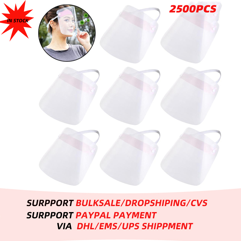 250x 10Pcs Full Face Shield Clear Flip Up Visor Protection Safety Work Guard For Droplet Dust Oil Fume Protective Visor