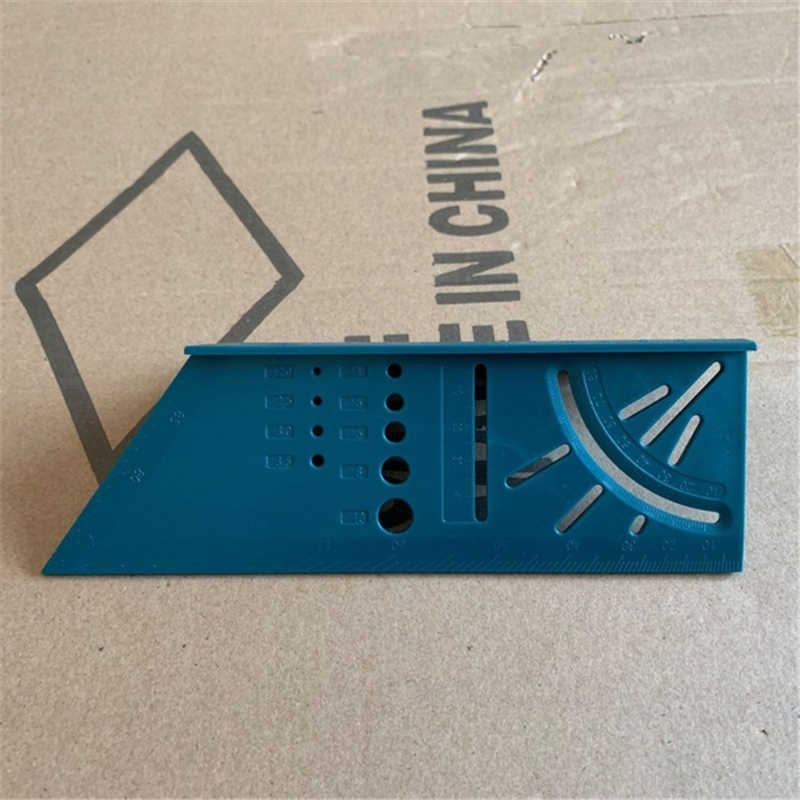 Linijka do obróbki drewna 3D miernik kąta nachylenia narzędzie do pomiaru rozmiaru kwadratu