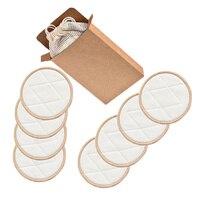 Removedor de maquillaje de fibra de bambú, almohadilla de eliminación de polvo reutilizable, 1 Juego