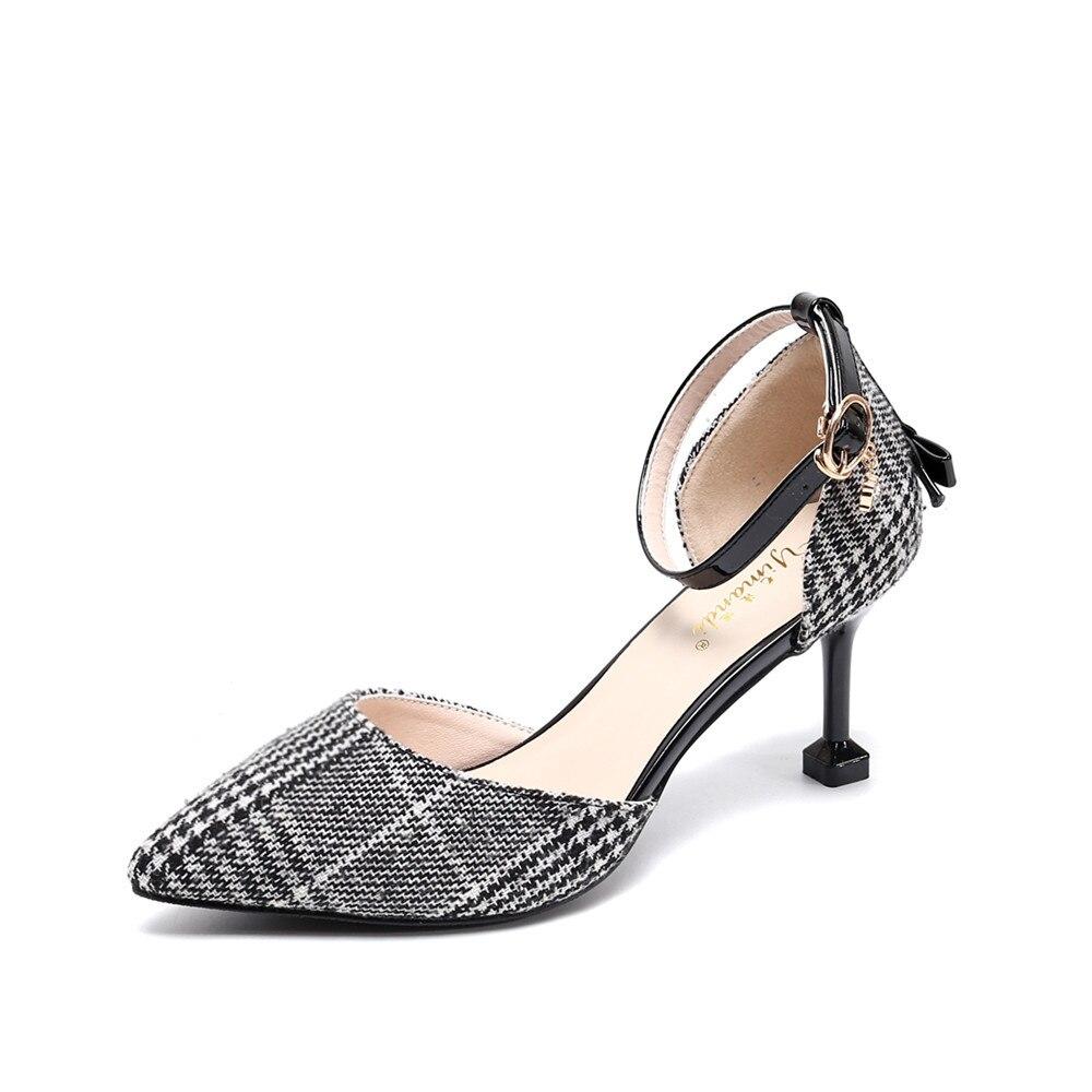 2019 été dames petit baotou frais bretelles pointues talons aiguilles creux sacs chaussures nouvelles sandales pour femmes