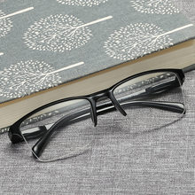 Men Women Boxed Reading Glasses Presbyopia Fashion Large Half frame Unisex Eyewear +0.25 +0.5+0.75+1.25+1.75+2.25+2.75+3.25+3.75